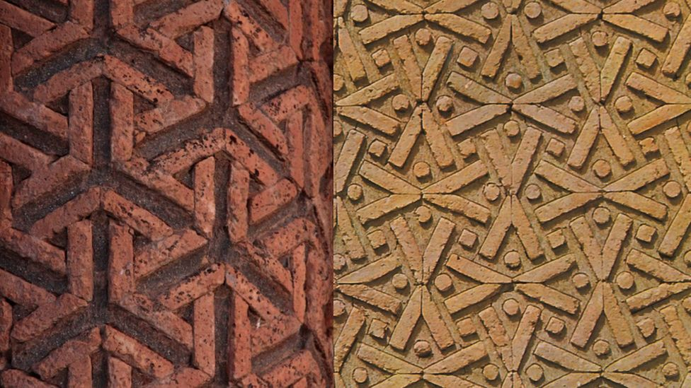 two stonework patterns