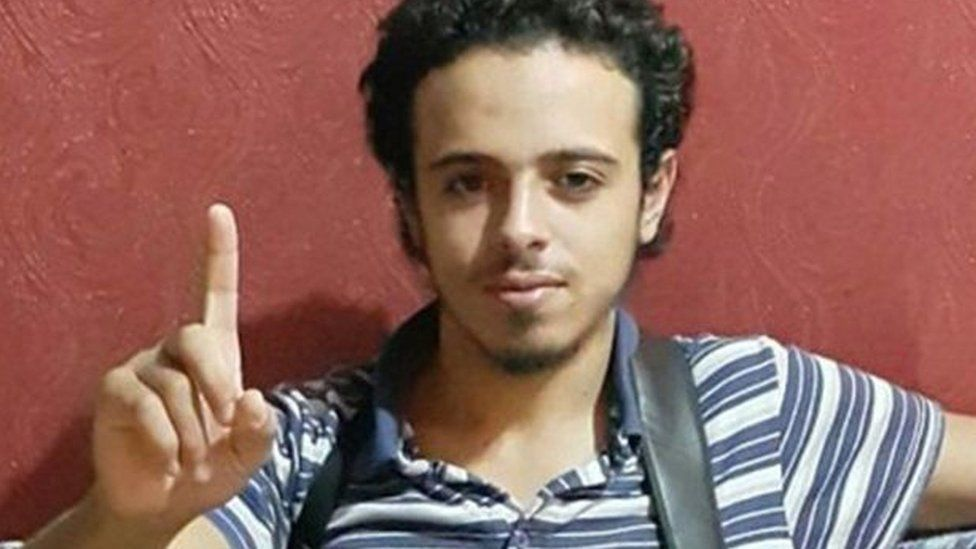 This undated and unlocated image shows French national Bilal Hadfi, 20, one of the suicide bombers who blew himself outside the Stade de France stadium during the Paris attacks on 13 November