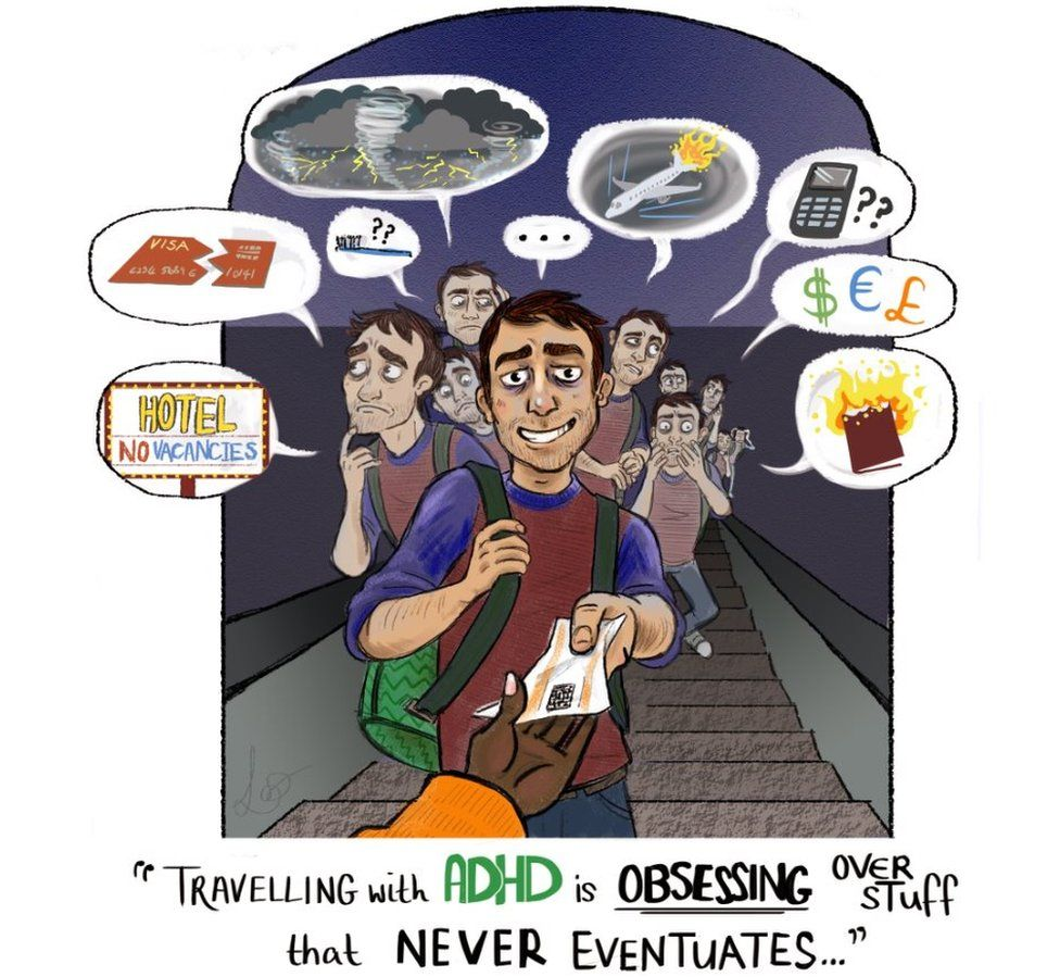 Image of travelling with ADHD