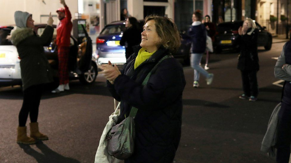 People took to the streets across the UK on Thursday night to applaud healthcare workers