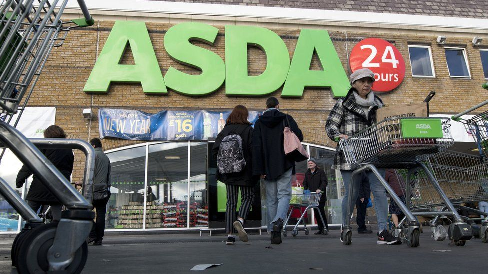 An Asda supermarket in south London