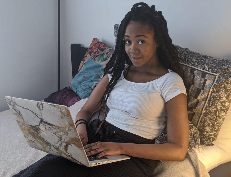Cilla in her bedroom
