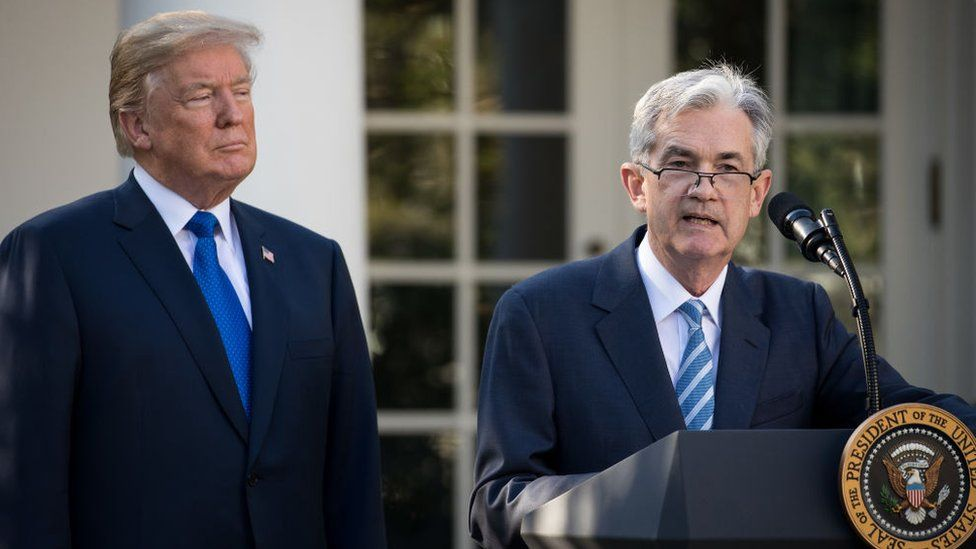 Donald Trump and Powell