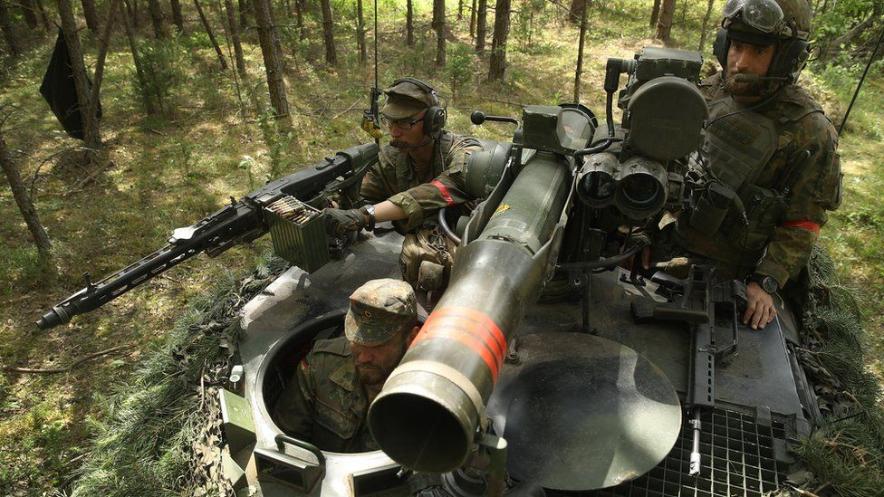 German troops on exercises in Lithuania, 9 June 2018