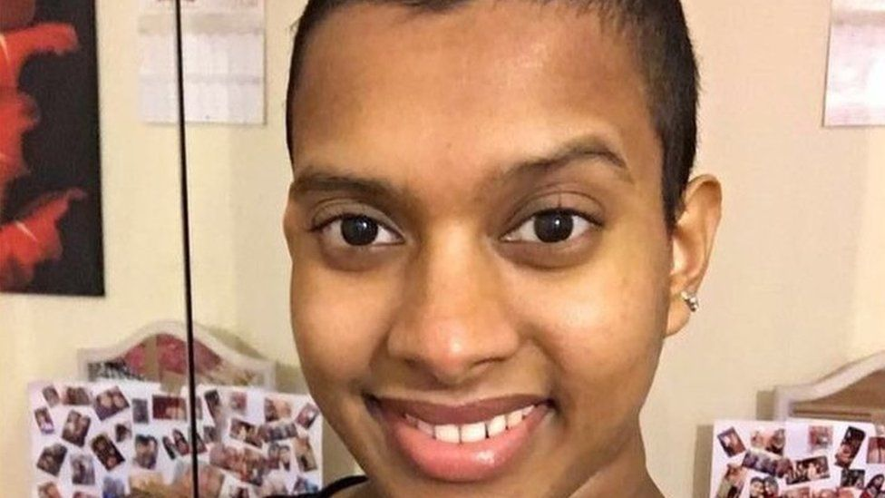 Vithiya pictured following her chemotherapy