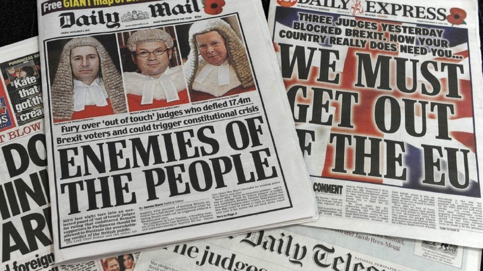 Paper front pages