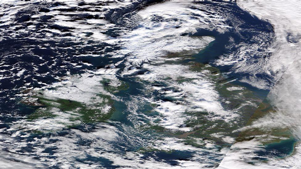 UK and Ireland satellite image