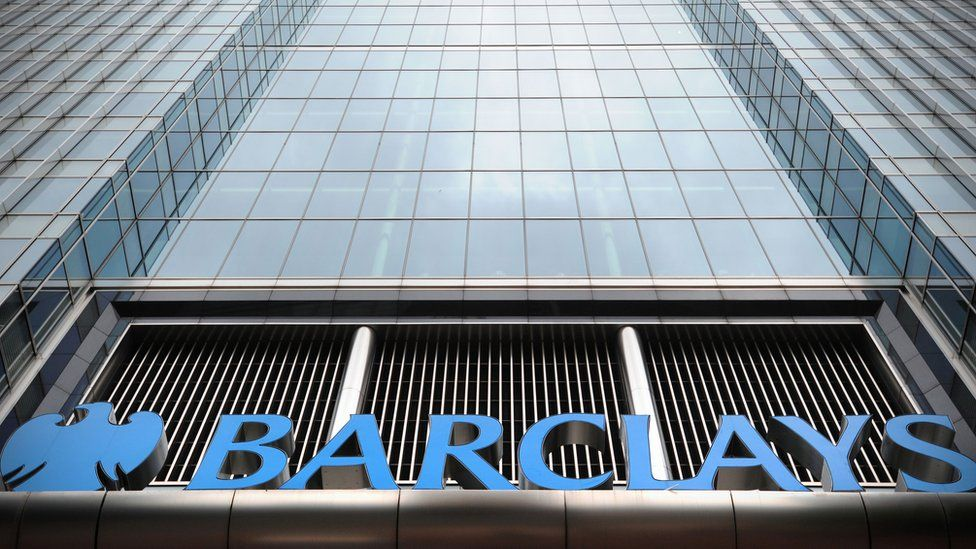 Barclays bank headquarters in Canary Wharf in east London