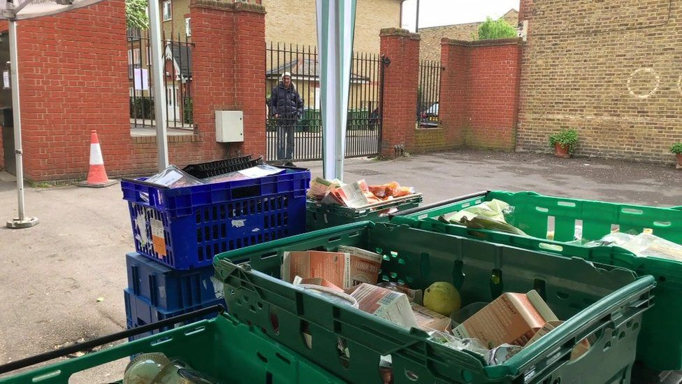 Food banks for homeless people