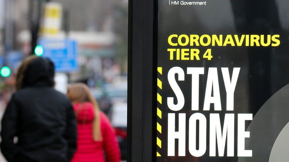 """Stay at home"" sign"