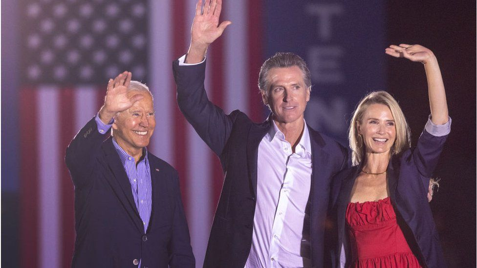President Biden campaigned with Mr Newsom one day before the vote.