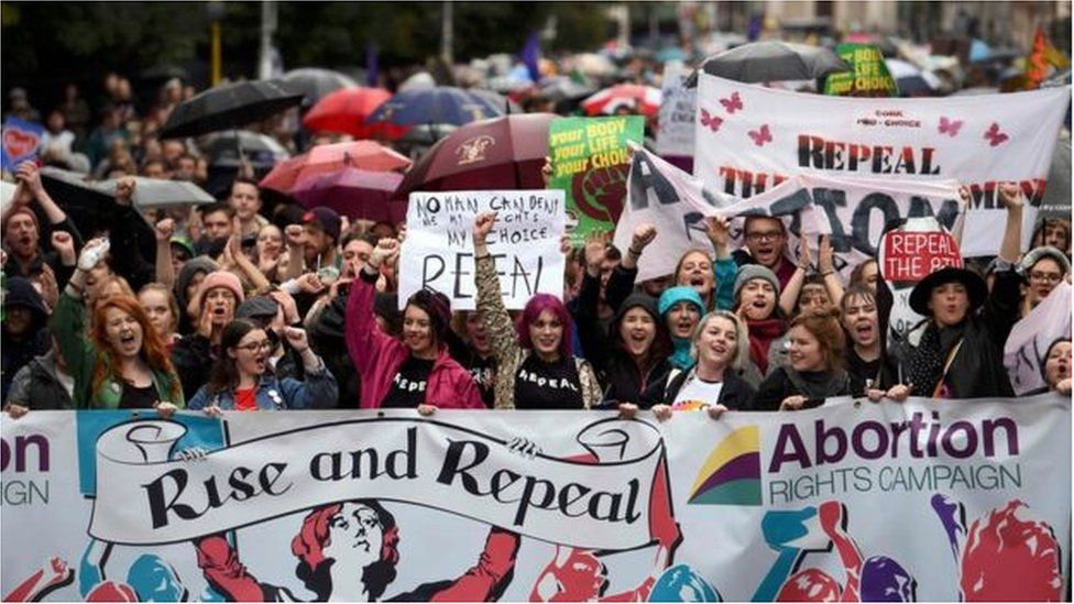 Demonstration in Dublin