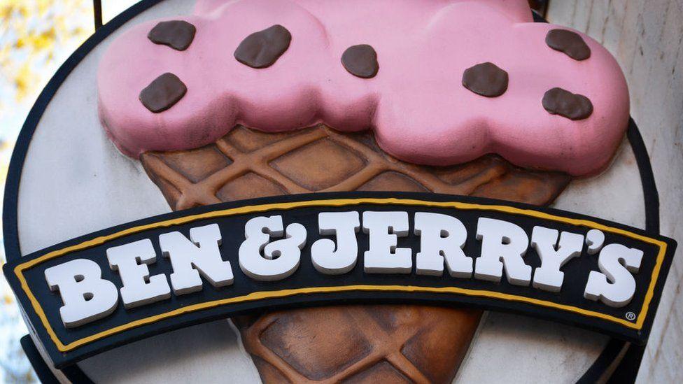 Ben & Jerry's ice cream shop sign
