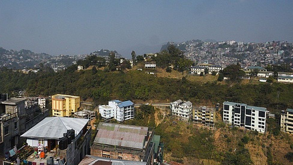A view of Aizwal Town on January 24, 2018.