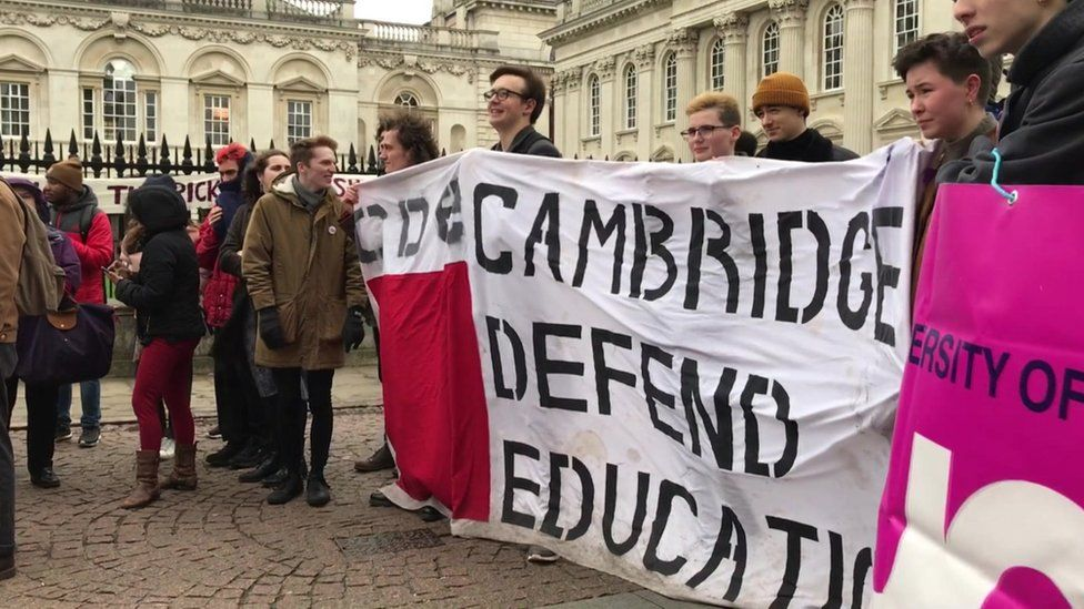 Rally in central Cambridge