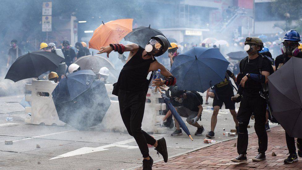 Protestas en Hong Kong en agosto de 2019