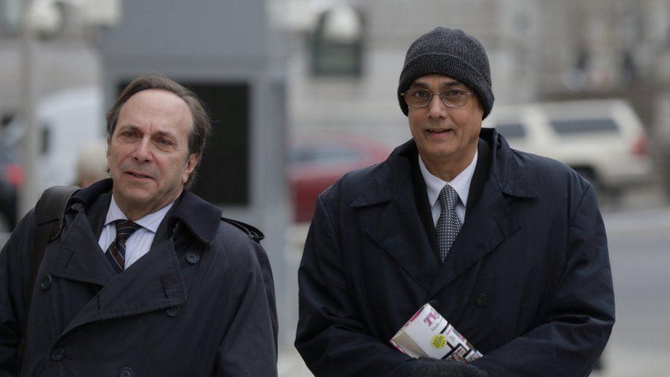 Mr Burga arriving at US federal court