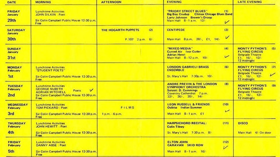 1971 Lanchester Arts Festival Programme