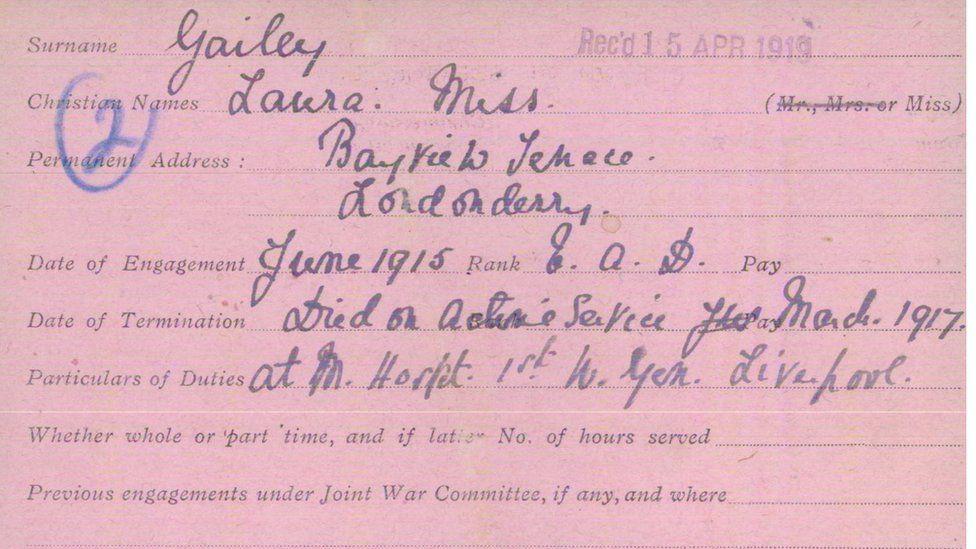 Laura Gailey service card