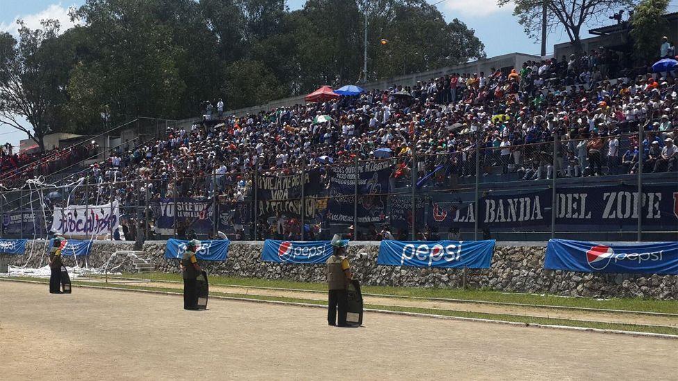 Seguridad Integral staff policing a sports event
