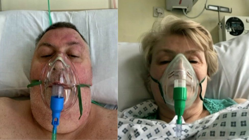 Peter and Sheila Kirkup in hospital
