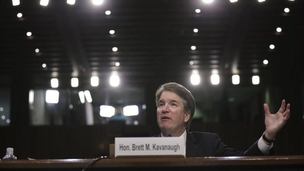 Supreme Court nominee Judge Brett Kavanaugh testifies before the Senate Judiciary Committee.