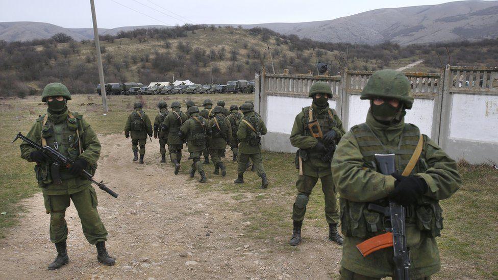 Russian troops in Crimea. March 2014