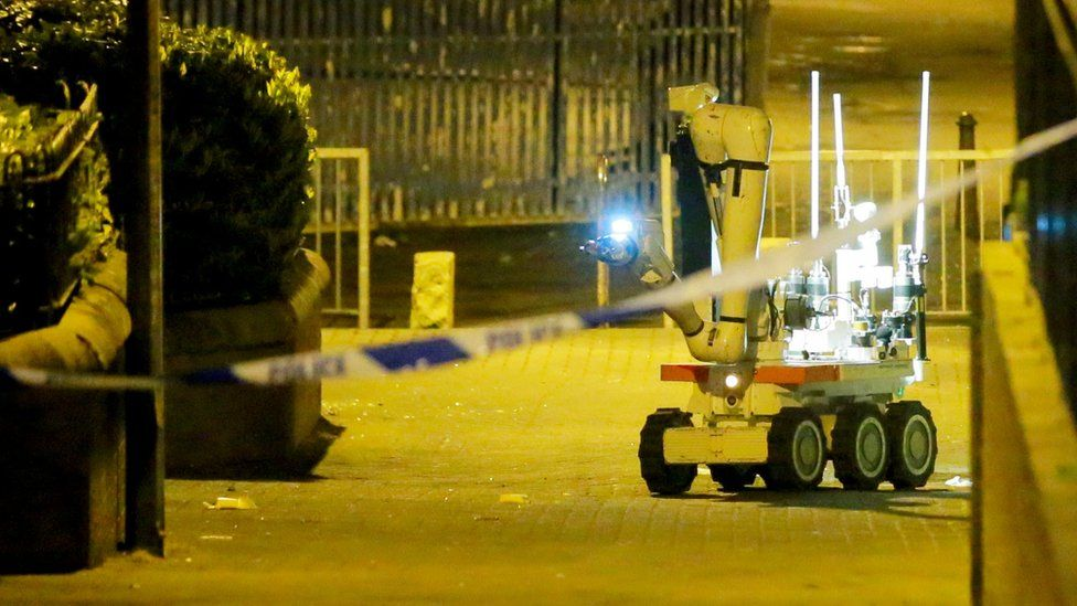 Robot approaches bomb outside Holy Cross primary school, Belfast