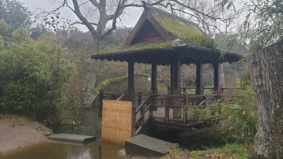 Saumarez Park Japanese fishing hut