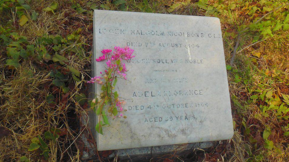 Nicolson's grave in Chennai