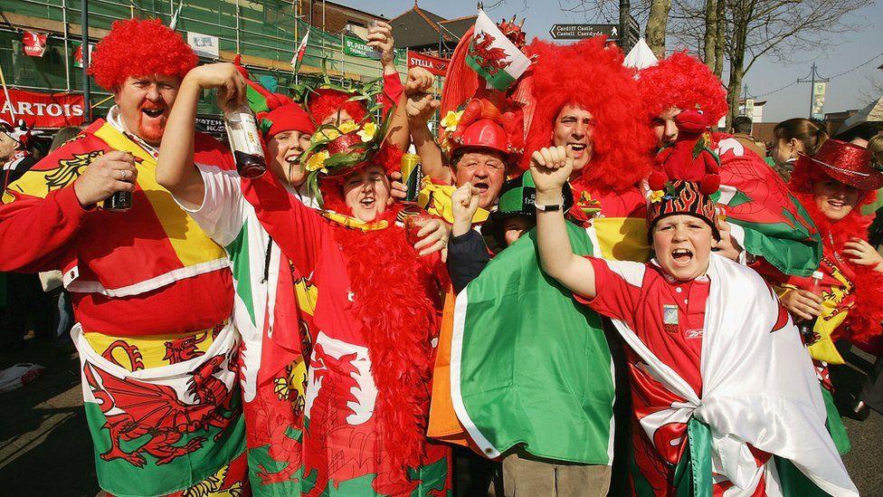 Welsh fans in 2005
