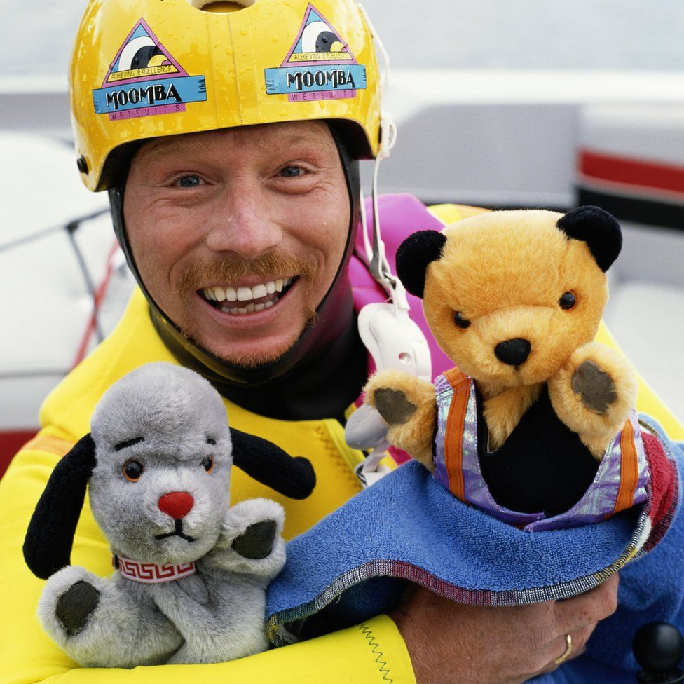 Matthew Corbett with Sooty and Sweep in 1995