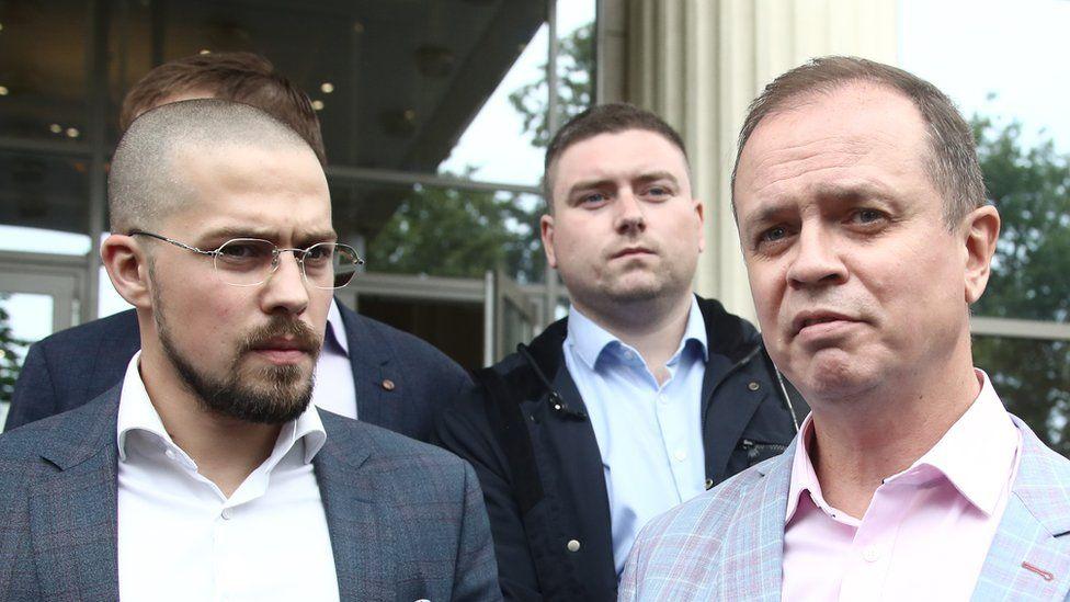 Адвокаты Дмитрий Катчев, Даниил Никифоров и Иван Павлов