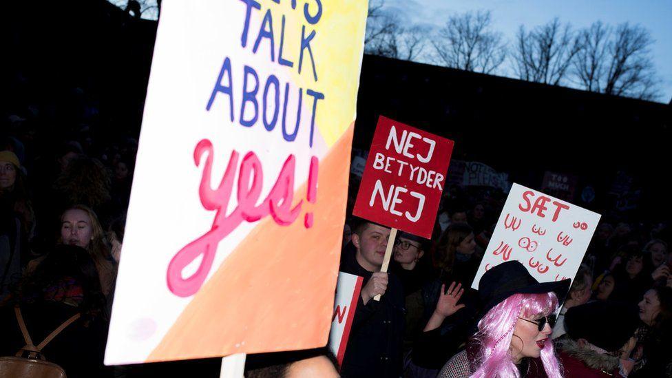 Danish Women's Day protest in Copenhagen