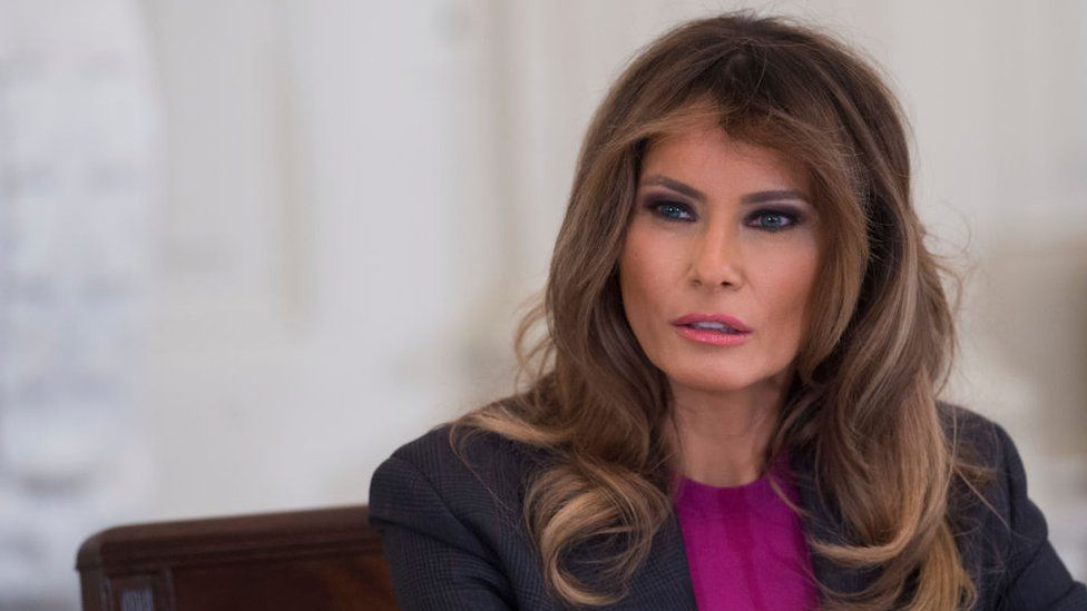 US First Lady Melania Trump holds a roundtable discussion on cyber safety in 2018