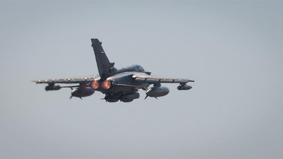 A RAF Tornado in flight