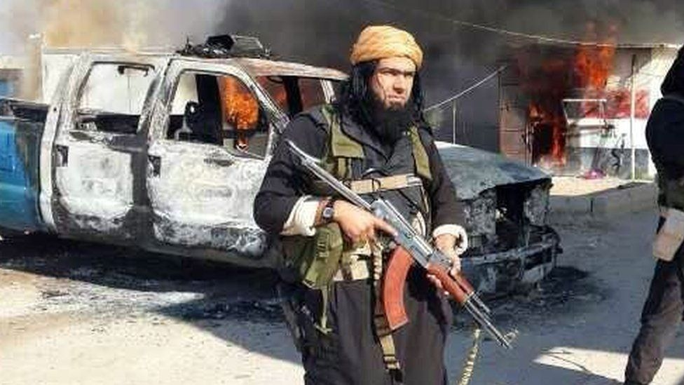 Abu Waheeb pictured in Iraq in 2014