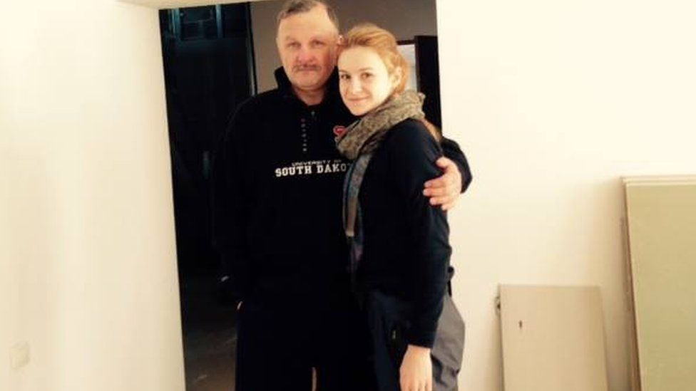 Maria Butina with her father