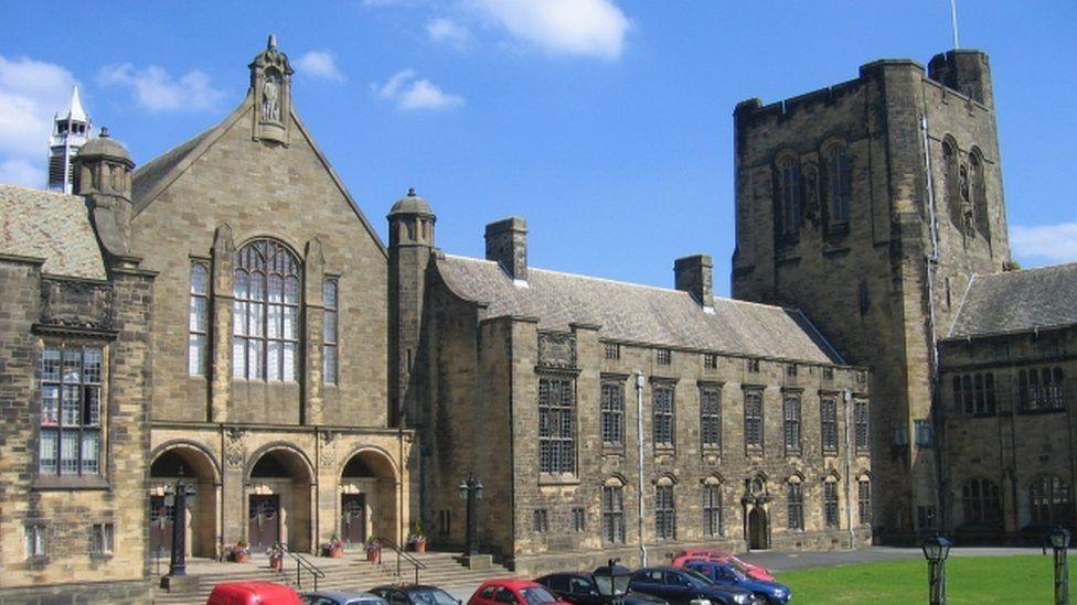 The main college at Bangor University
