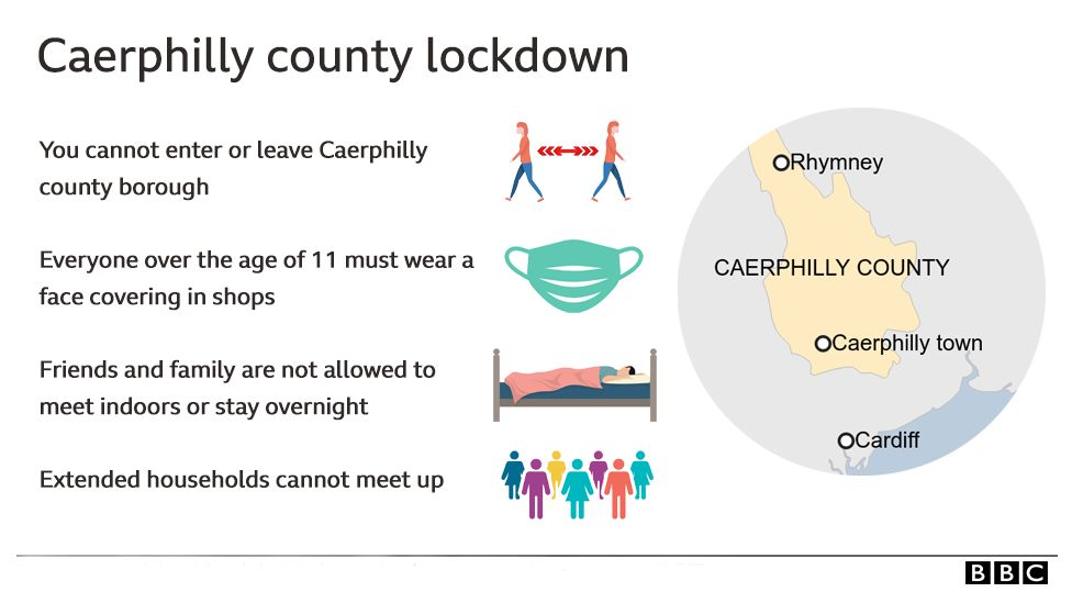 Graphic giving lockdown details