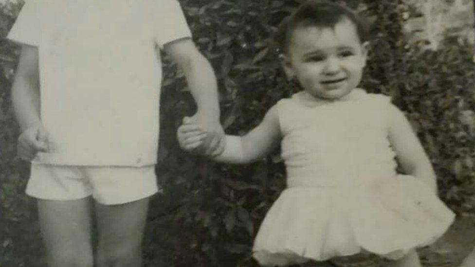 Ascensión López, as a child