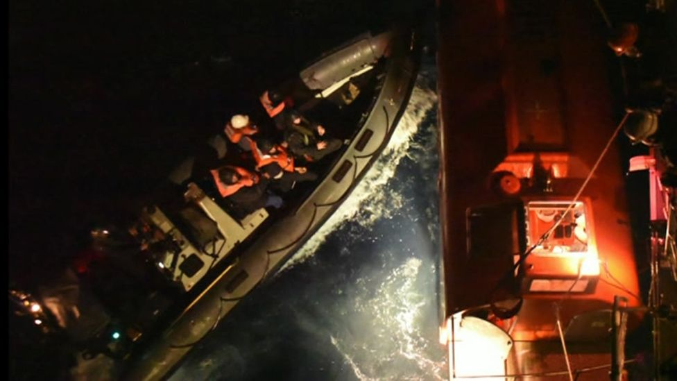 Rescue from the lifeboat