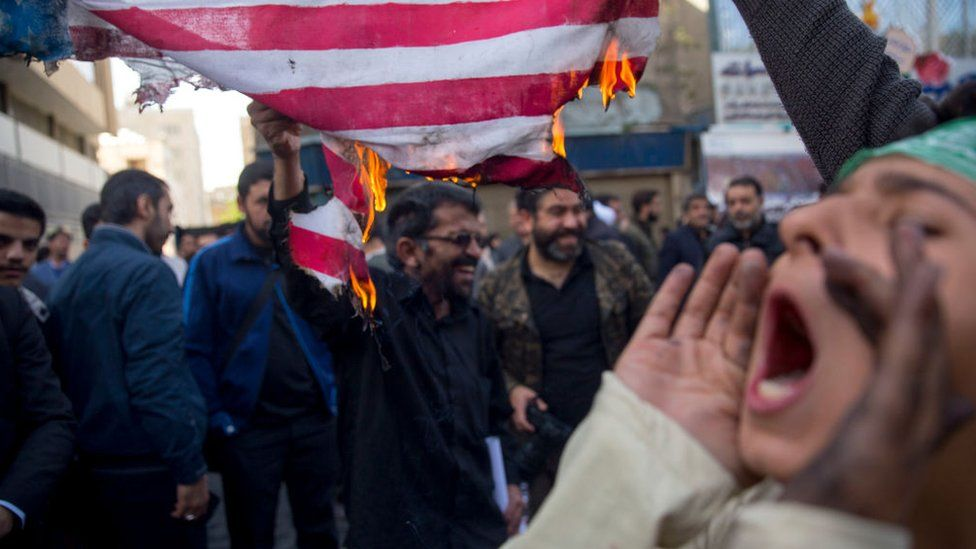 Iranian protests against reimposition of US sanctions