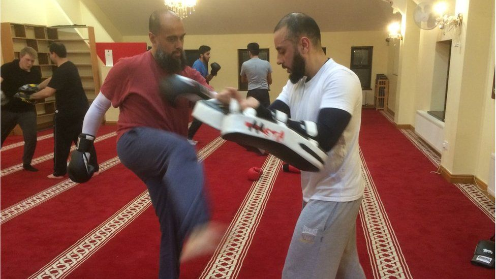 Kickboxing at the mosque