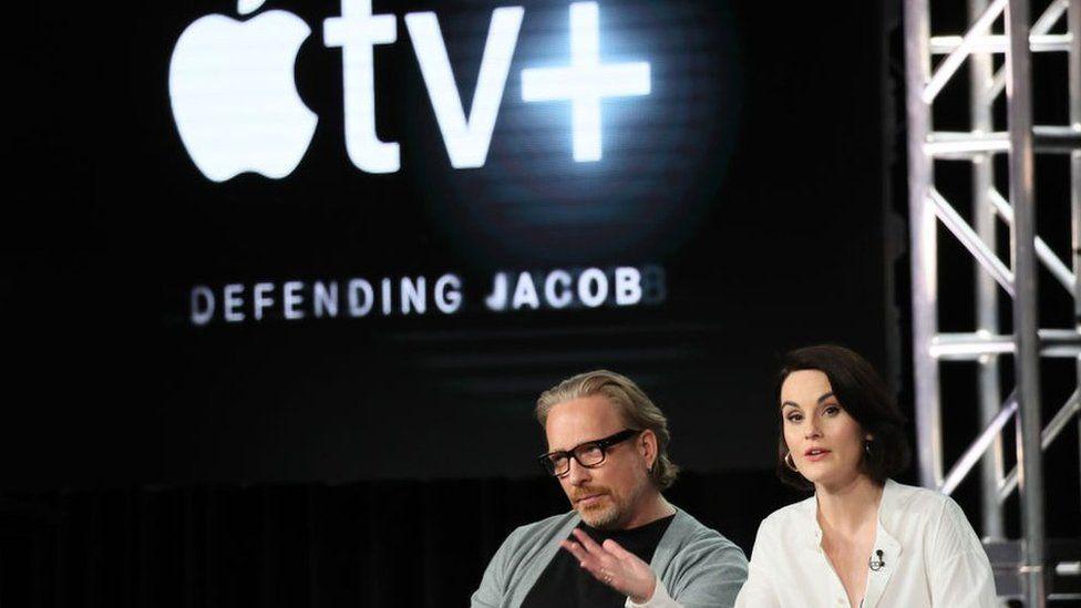 Actors Morten Tyldum and Michelle Dockery