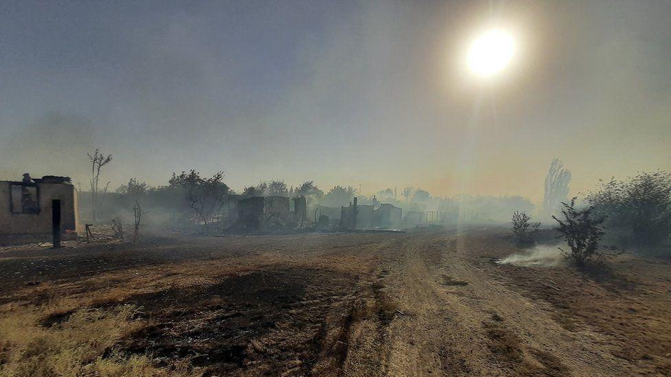 Пожар в Ростовской области, Каменский район