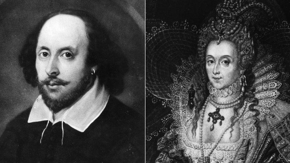 William Shakespeare and Queen Elizabeth I
