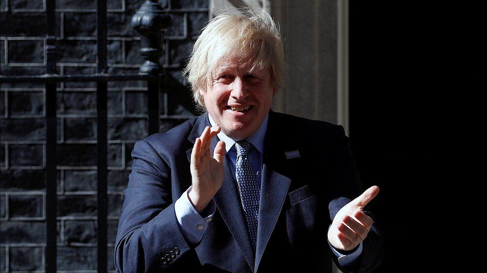 Prime Minister Boris Johnson took part in the clap from outside Downing Street