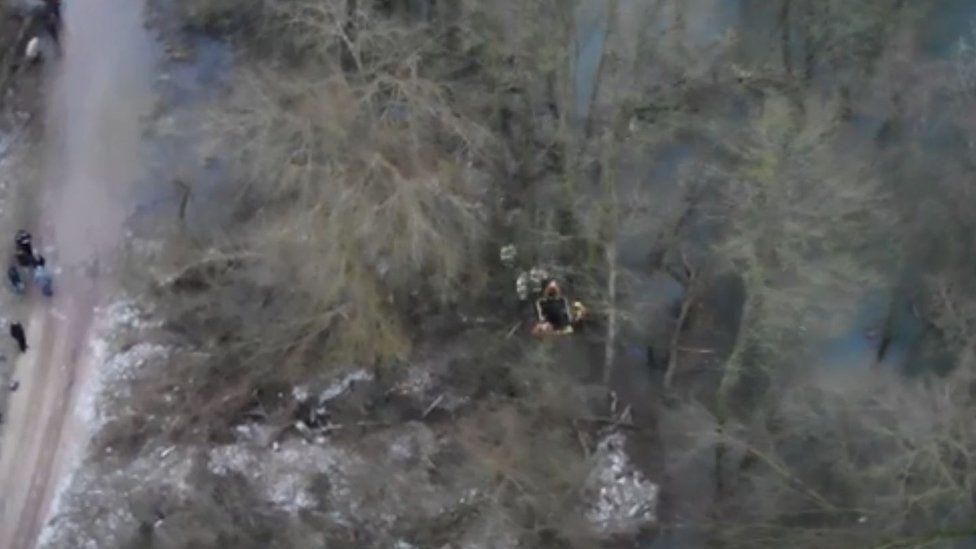 Police river rescue