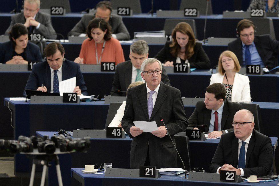 Commission President Juncker addresses European Parliament, Strasbourg, 5 Jul 16